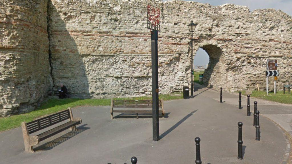 Pevensey Castle entrance